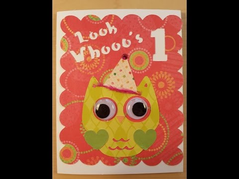 Owl Themed Birthday Party Invitations ~ Card Making With Cricut