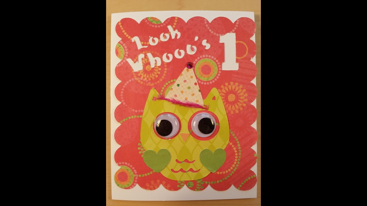 Owl Themed Birthday Party Invitations ~ Card Making with Cricut ...
