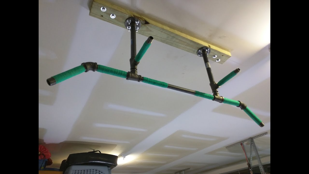 Diy 4 Position Ceiling Mounted Pull Up Bar For Ninja