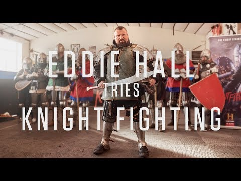 Watch Eddie Hall FIGHT In Medieval Armour | Knight Fight | HISTORY UK