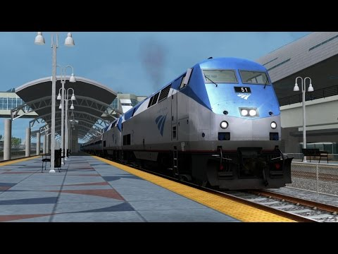 TRAIN SIMULATOR 2015 | Miami - West Palm Beach | Amtrak P42DC #17