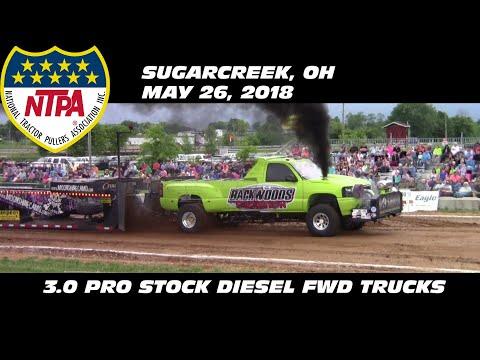 5/26/18 NTPA R2 Sugarcreek, OH 3.0 Pro Stock Diesel FWD Trucks