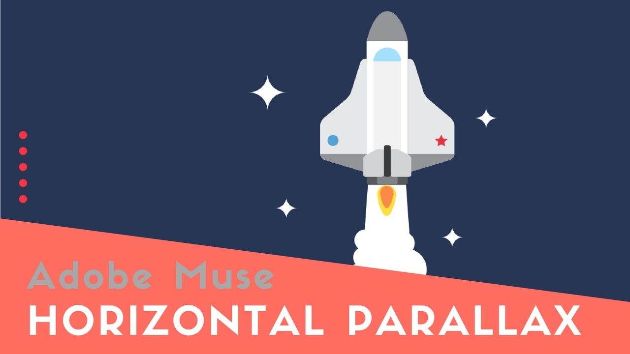 how to create a horizontal parallax effects in adobe muse youtube
