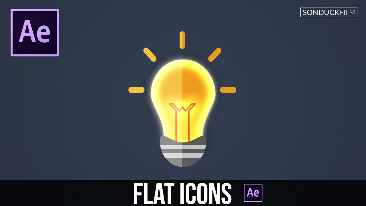 After Effects Tutorial Create Flat Icons Motion Graphic Animation Youtube