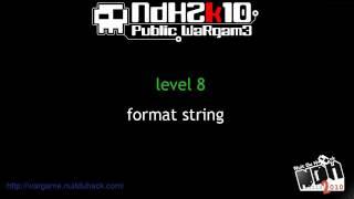 [NDH2010] level 8 : format string