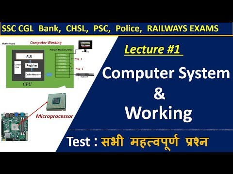 Computer Lecture 1 : Computer System &  Working | All Important Questions For Govt. Exam