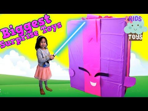 Видео, Biggest GIANT SURPRISE TOYS BOX OPENING Mega Surprise Eggs Disney Junior Kids Video
