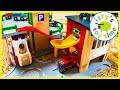 Happy 4th Birthday Bubs Brio Firestation with Thomas and Friends and Firetrucks