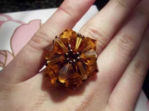 Swarovski rings & earrings