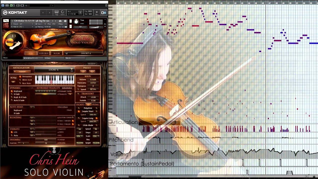 False Valse Chris Hein Solo Violin - Virtual Instrument