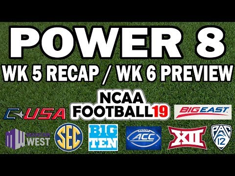 Power 8 Episode 7 - Week 5 Preview (NCAA Football Conference