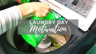 LAUNDRY DAY Cleaning Motivation // Cleaning Mom