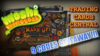 MOSHI MONSTERS MASH UP! MOSHLING MADNESS | CODE GIVE AWAY!!! | TRADING CARDS CENTRAL