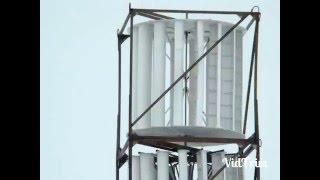 Вертикальный ветрогенератор своими руками(Работа вертикального ветрогенератора, сам вид ветряка. Видео найдено на странице http://ruslan-g.blogspot.ru/2014/04/blog-post.h..., 2015-12-11T17:31:52.000Z)