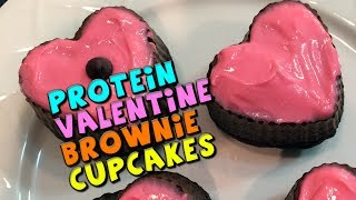 Protein Valentine Brownie Cupcakes W/ Protein Frosting Recipe