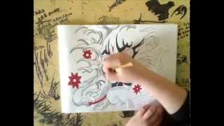 Hennya Mask Drawing