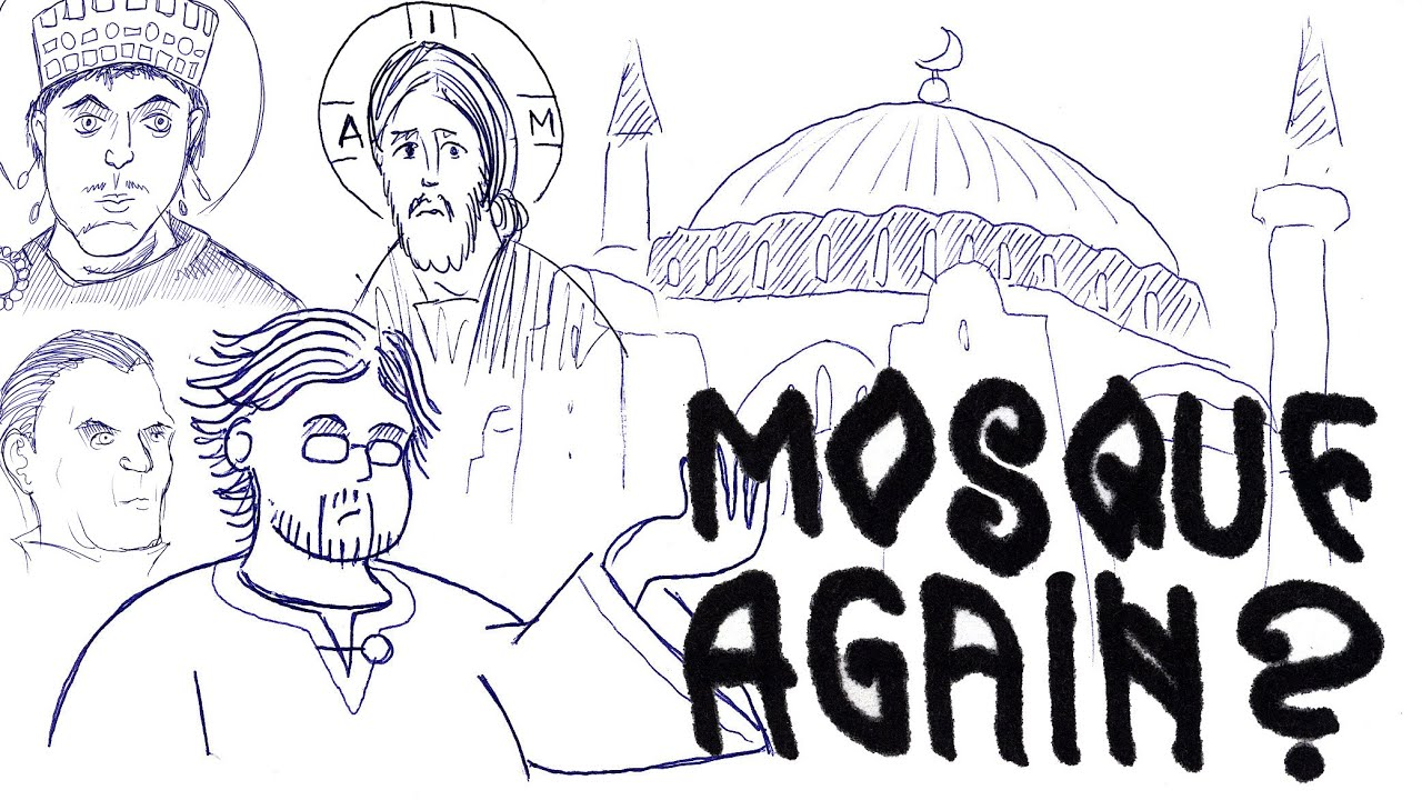 Turning Hagia Sophia Into a Mosque Again (Pencils & Prayer Ropes)