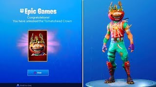 COMMENT À UNLOCK 'NEW' TOMATOHEAD CROWN à Fortnite! - Fortnite Battle Royale CUSTOMIZABLE Tomatohead!