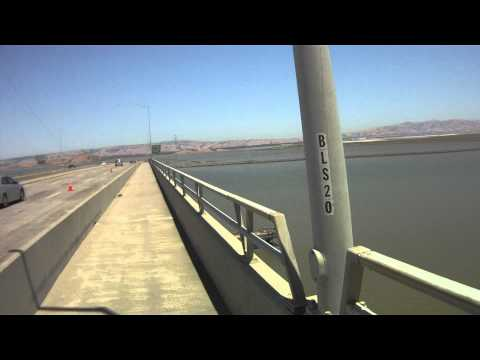 Dumbarton Bridge Cycle Path Menlo Park to Fremont