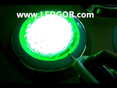 Stainless Steel LED Pool Light RGB Wall Amount Type 40W RGB AC12V Remote Control - LEDGOR.COM