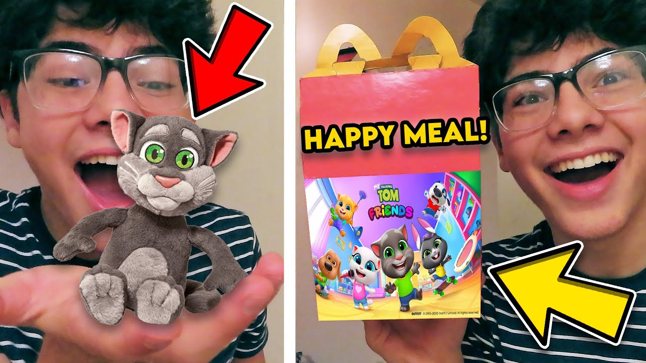 ORDERING THE BABY TALKING TOM AND FRIENDS HAPPY MEAL!! *TALKING TOM TOY INSIDE*