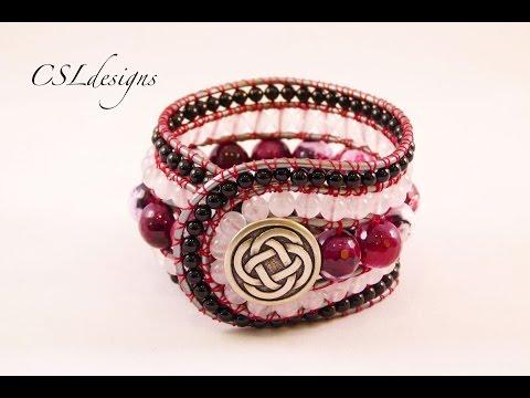 5 row wrap around bracelet