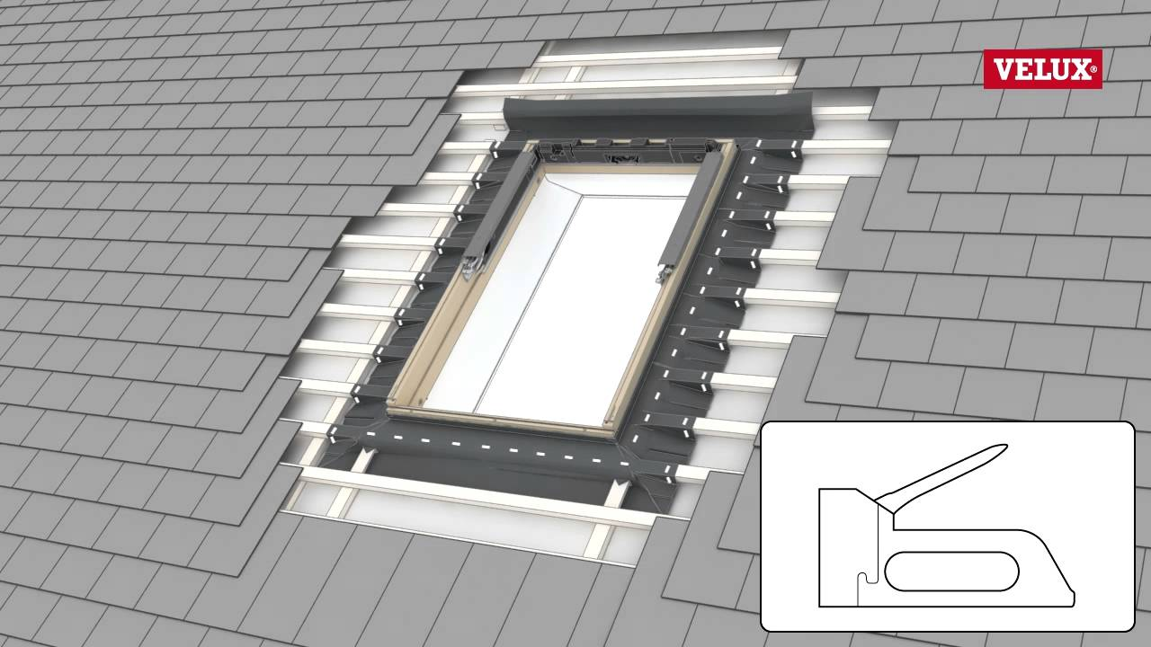 Velux Ves To V22 Roof Window El 0000 Flashing Youtube