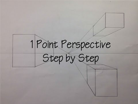 how to draw one point perspective step by step