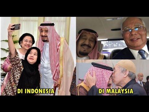 10 Foto Tunjukan Beda Kunjungan RAJA SALMAN Di INDONESIA DAN MALAYSIA