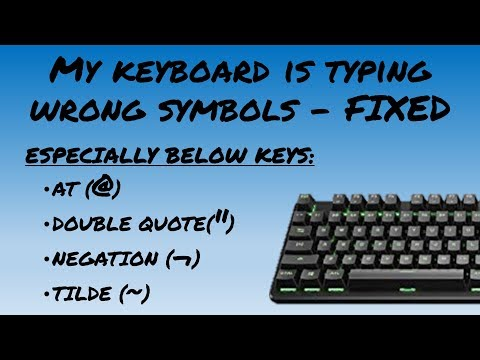 Keyboard Symbols/special Characters(@,