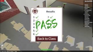 Roblox University Cheat Sheet