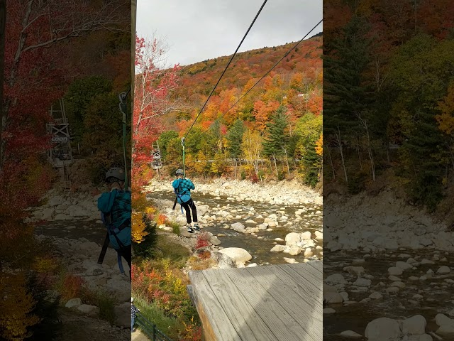 Alex on the Loon Zipline - Troop 279