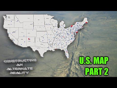 Alternate United States Map.United States Map Part 2 Fringe S Alternate Universe Youtube