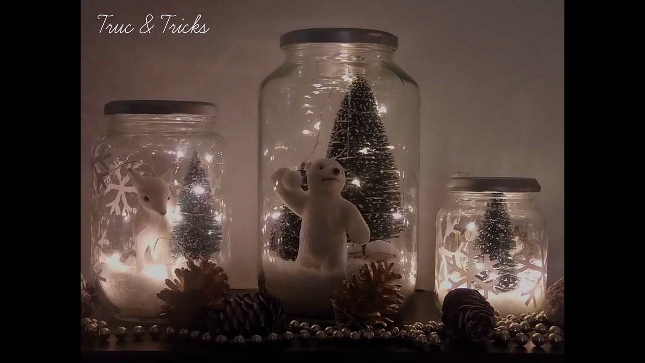 Christmas decoration diy christmas jars youtube for Deco de noel