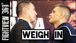 GGG vs Derevyanchenko WEIGH IN, Face Off, & RECAP! Sheilds Habazin Weigh In? Trainer PUNCHED!