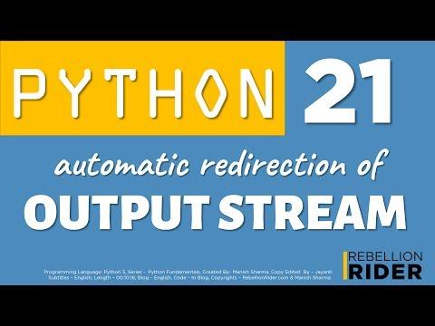 Python tutorial 21: Python Print To File by Manish Sharma thumbnail