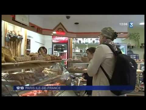 JT 13H France 3 26/04/13. Reidax chez le meilleur artisan boulanger de Paris.