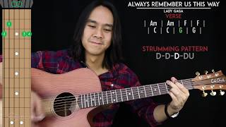Baixar Always Remember Us This Way Guitar Cover Acoustic - Lady Gaga  🎸 |Tabs + Chords|