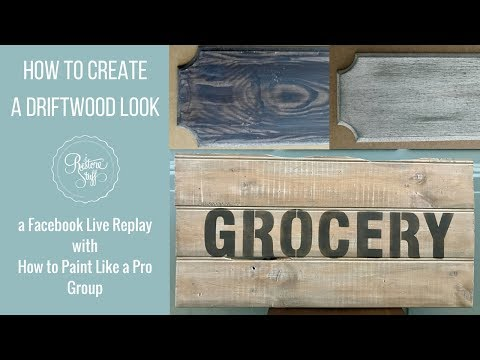 How to Paint a Driftwood Effect