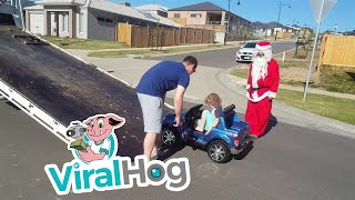 Santa Brings Out the Heavy Machinery