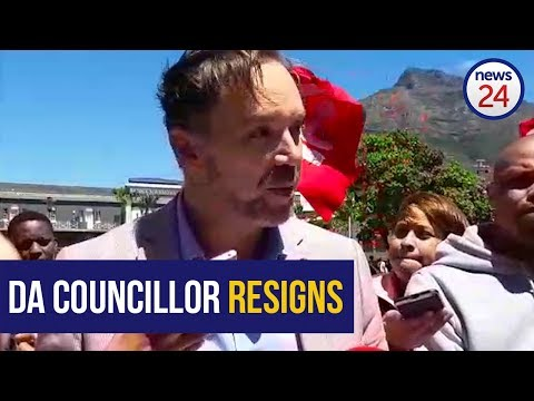 WATCH: Democratic Alliance councillor Brett Herron resigns