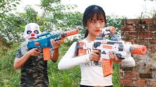 Superhero action S.W.A.T & Great Hero Nerf guns Mercenary Security Rescue Lady Nerf war