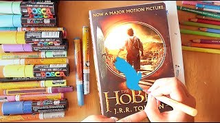 Painting on Books! Erasing movie covers. 'The Hobbit'.