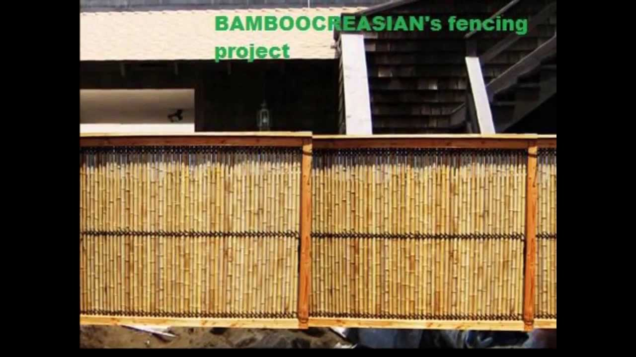 1:Bamboo Fencing  Bamboo Iron Poles Panel Privacy Fence Panel/Roll   YouTube