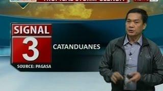 SONA: Signal No. 3, nakataas na sa Catanduanes