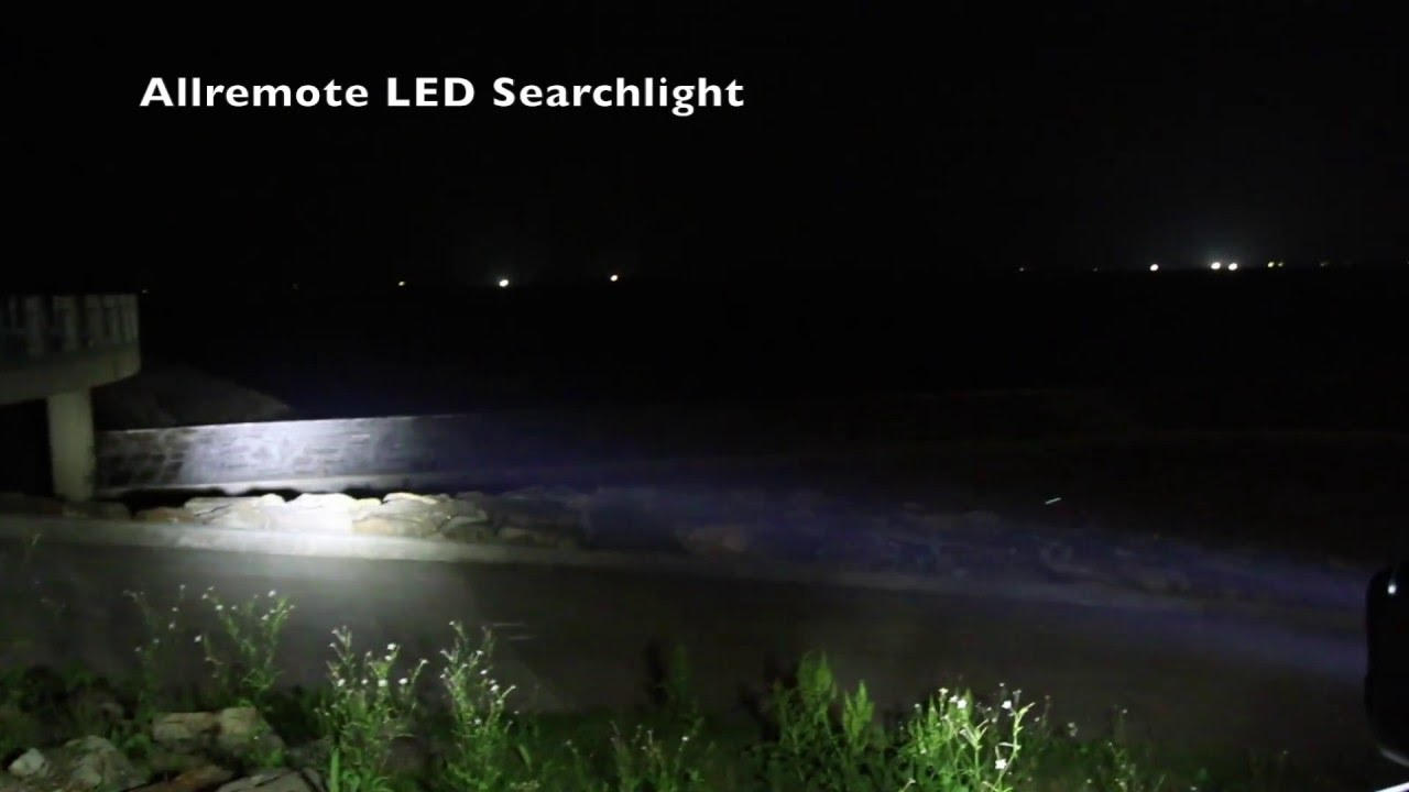 Led Remote Control Searchlight Demonstration