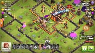 Clash Of Clans -TH9 Legend VS Th10! Baby Loons attacks Over 5200! And Defense Log !