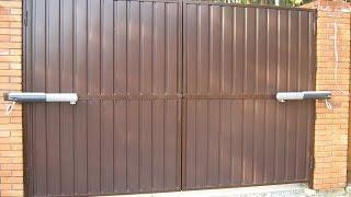 Распашные ворота - автоматические въездные ворота(, 2014-09-19T03:21:00.000Z)