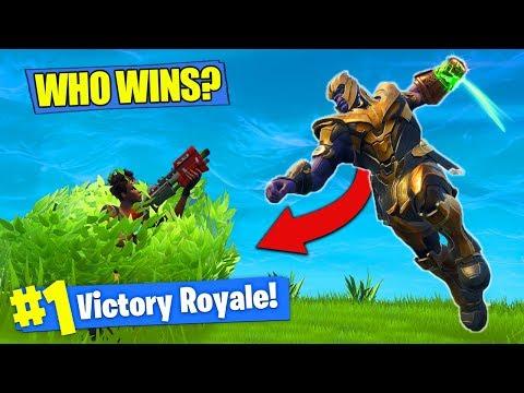 THANOS vs. BUSH NOOB - WHO WINS?? [Fortnite Battle Royale]