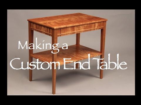Marvelous End Table Building Process Doucette And Wolfe Furniture Maker   YouTube